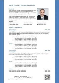 1 CV för position och karriärmål