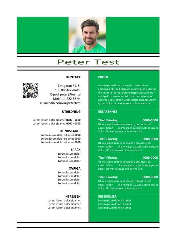 1 CV mal QR ljusgrön