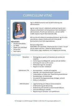 1 CV_med_resume_och_kompetensprofil_2_sidor