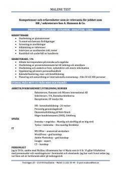 CV Kompetenser och erfarenheter relevanta för jobbet - blå