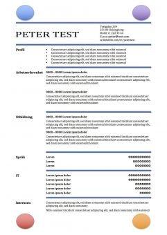 CV-mall med cirklar