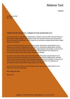 Ansökan och CV-mall med vattenstampel orange