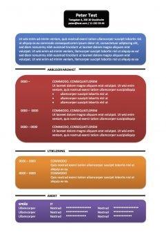CV Mall - textruta - flera färgerCV Mall - textruta - flera färger