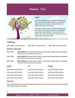 CV mall med profil - lilla