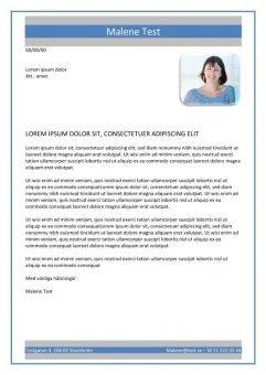 1 Personligt brev och CV med grå blå kant