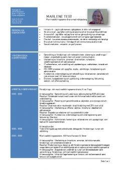 1 CV funktionellt med personliga och yrkesmassiga egenskaper - bla
