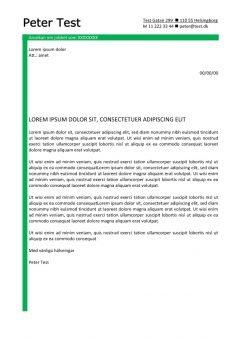 1 Personligt brev och CV layout med grona linjer