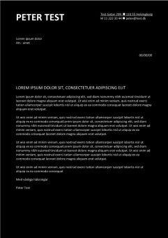 1 Personligt brev och CV med svart bakgrundsfarg