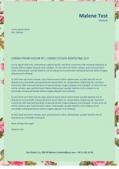 1 Ansokan och CV layout med blommor