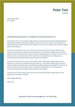 1 Jobbansokan och CV-layout med gul-bla ram