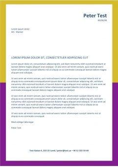 1 Jobbansokan och CV-layout med gul lila ram
