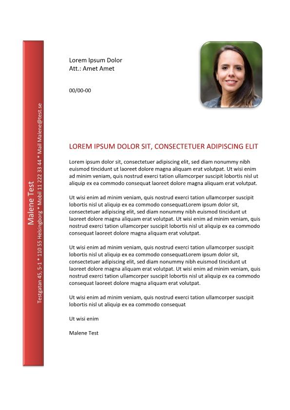 1 Personligt-brev-och-CV-med-kontaktinformation-på-vanster-sida
