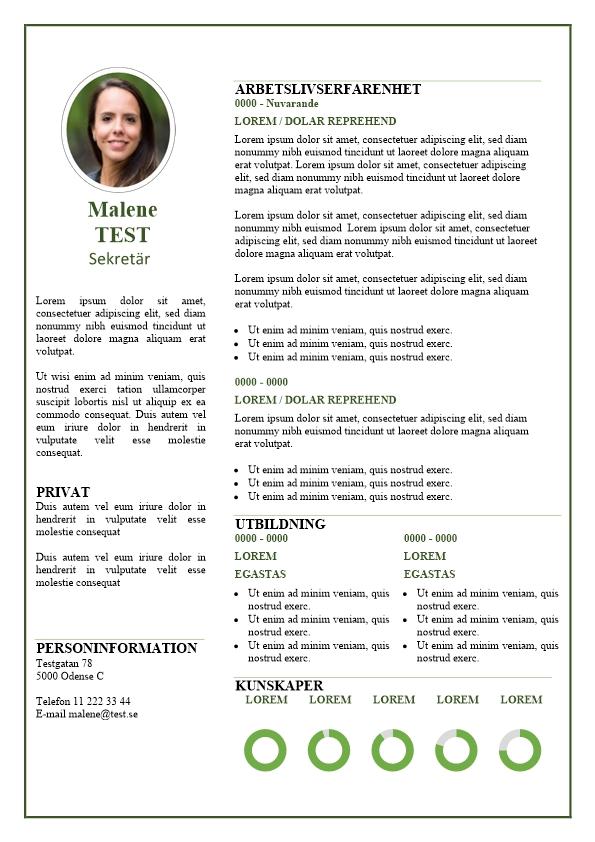 2-CV-mall med grön kant och text