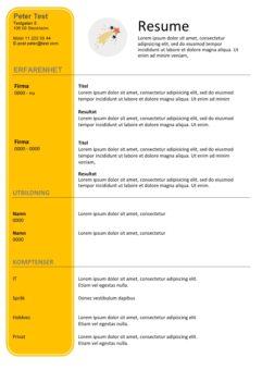 2-CV mall - med gul vänster sida