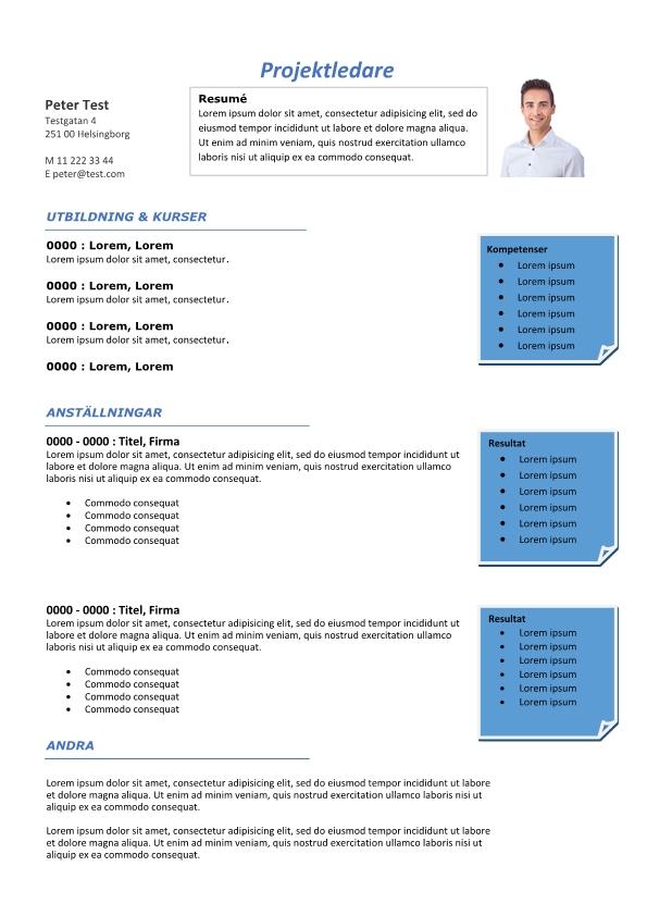 2-CV mall - med resultat - blå färger