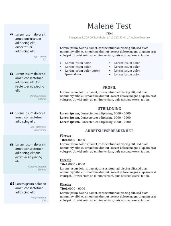 2-CV-mall med uttalanden