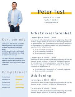 2-Personligt brev och CV - bild och blåtext