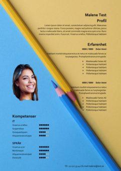 2-CV mall med penna