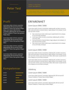 2-CV-mall med svart bakgrund och gul text