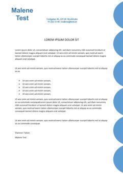 2-Personligt brev och CV med cirklar - 2 sidor